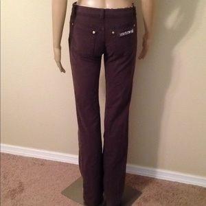 Roberto Cavalli brown straight jeans, size S